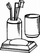 Accessories Bathroom Coloring Pages sketch template