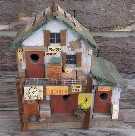 solid wood ducks unlimited bird house built by m l studtman original