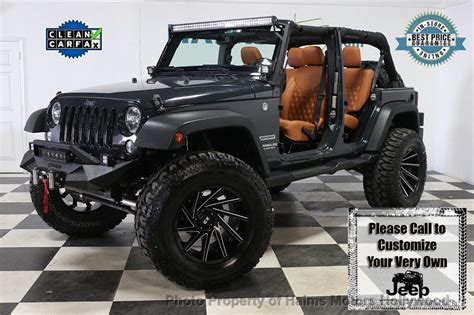 Jeep Wrangler Unlimited Modification by 2017 Used Jeep Wrangler Unlimited Custom Jeeps At Haims
