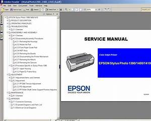 Epson R1390  R1400  R1410 Printers Service Manual And