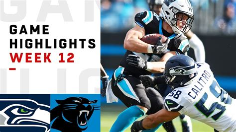 seahawks  panthers week  highlights nfl