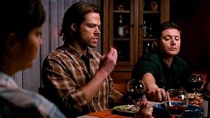 Spn Supernatural Mills Tv Sheriff Bunch Dinner
