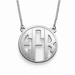 cut out monogram necklace mynamenecklace With block letter monogram necklace