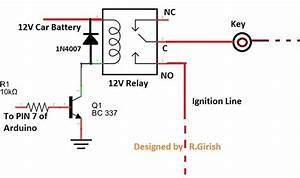 Gsm Car Ignition And Central Lock Using Arduino
