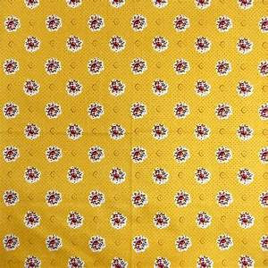 Serviette De Table En Tissu : serviette de table tissu proven al jaune motif fleurette ~ Teatrodelosmanantiales.com Idées de Décoration