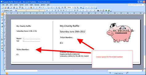 Publisher Ticket Template by Printable Numbered Raffle Tickets On Your Own Computer