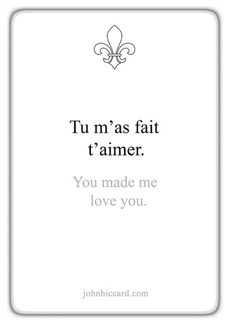 Pin by Sonja on play with Words.. in 2020   French love ...