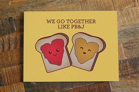 cute card     pbj peanut butter