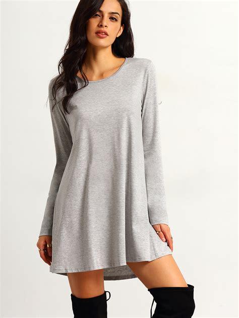 t shirt dresses grey sleeve t shirt dress makemechic com