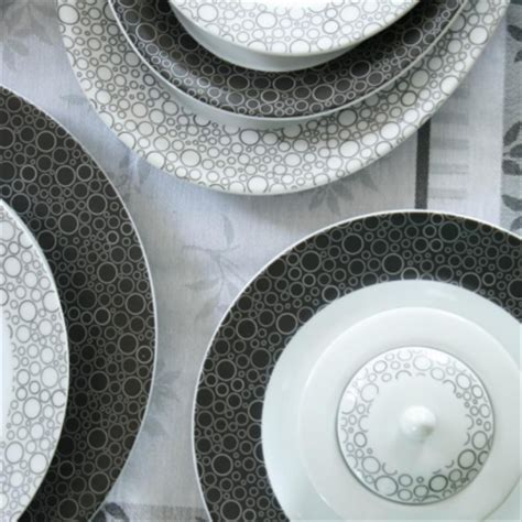 tasse assiette service de table black or white