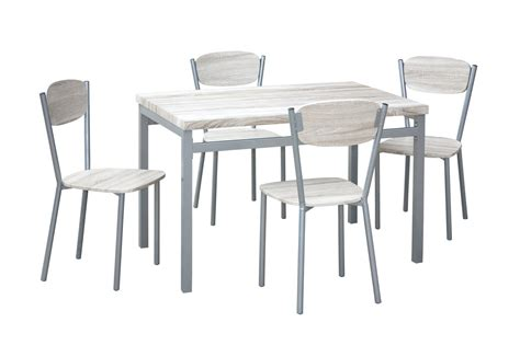 table 6 chaises ensemble table 4 chaises contemporain bois métal nancy