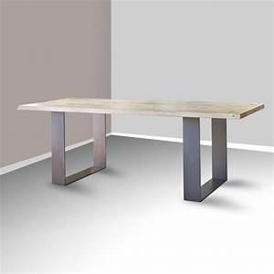 Pied De Table Industriel : table de s jour esprit industriel extensible en ch ne ~ Dailycaller-alerts.com Idées de Décoration