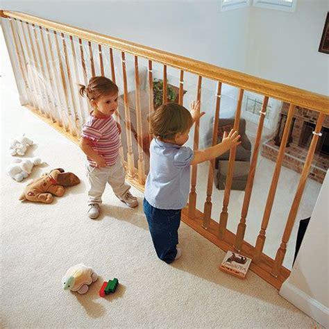 baby proof banister clear railing barrier for loft railings modern