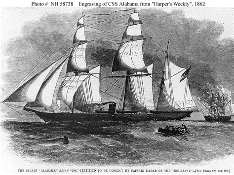 Boat Donation Alabama by Confederate Ships Css Alabama 1862 1864