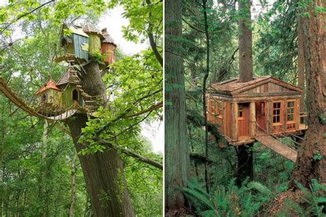 Room equipped with a microwave, fridge, coffee maker and toaster. Tree-rific Treehouses - Honestly WTF