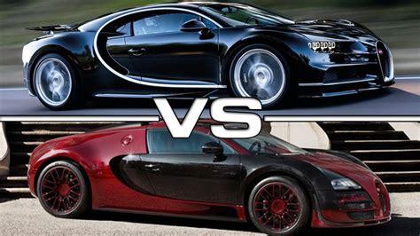 Bugatti Veyron And Chiron by 2017 Bugatti Chiron Vs 2015 Bugatti Veyron