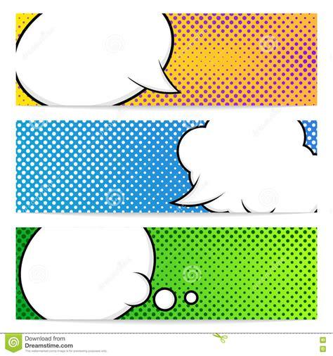 pop art banners template stock vector illustration