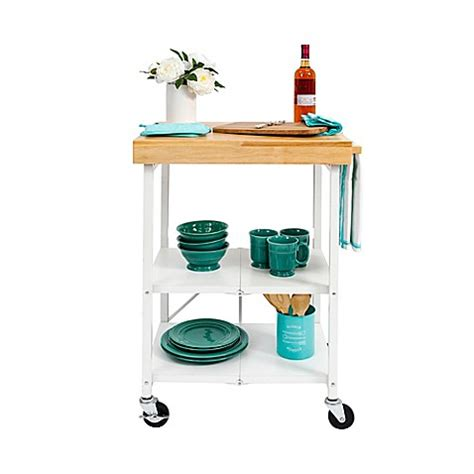 Origami Kitchen Cart by Origami Foldable Kitchen Cart Bed Bath Beyond