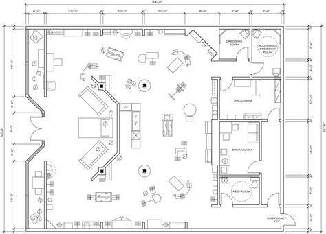 retail store floor plan design architecture plans 78749