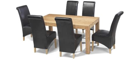 dining table and 6 chairs cube oak 160 cm dining table and 6 chairs quercus living