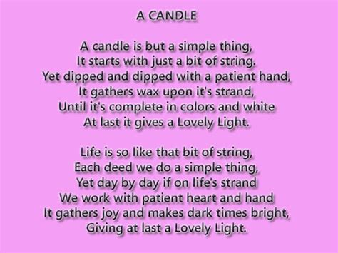 Gedicht Kerze Licht by Poem About Candle Lite Search Sentiments