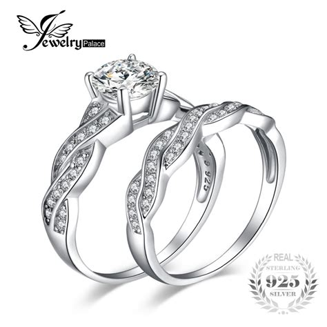 jewelrypalace infinity 1 5ct simulated diamond anniversary promise wedding band engagement ring