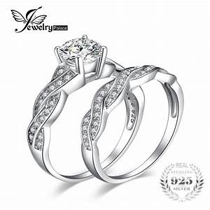 jewelrypalace infinity 15ct simulated diamond anniversary With silver wedding sets rings
