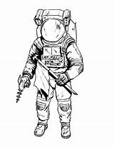 Astronaut Coloring Pages Drawing Suit Space Tattoo Spaceman Printable Nasa Draw Simple Moon Suits Getdrawings Drawings Clipartmag Adult Enregistree Depuis sketch template