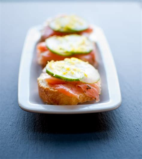 easy smoked salmon canapes smoked salmon canapes with easy lemon truffle mayo salt