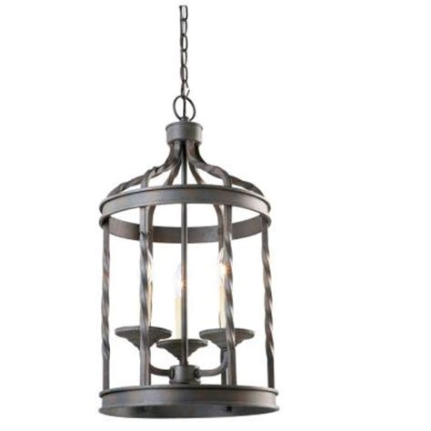 hton bay barcelona collection 3 light rustic iron