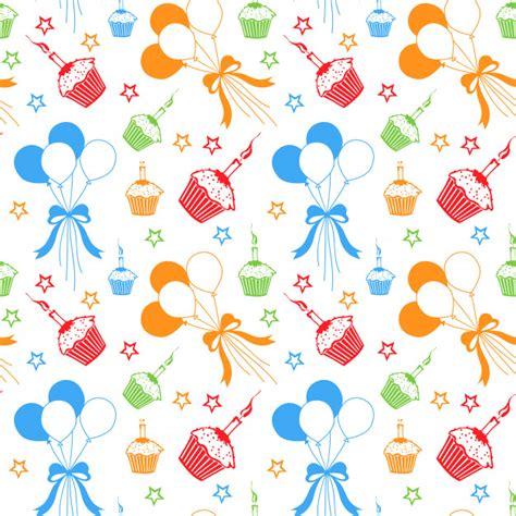 seamless colorful happy birthday pattern baixar vetores