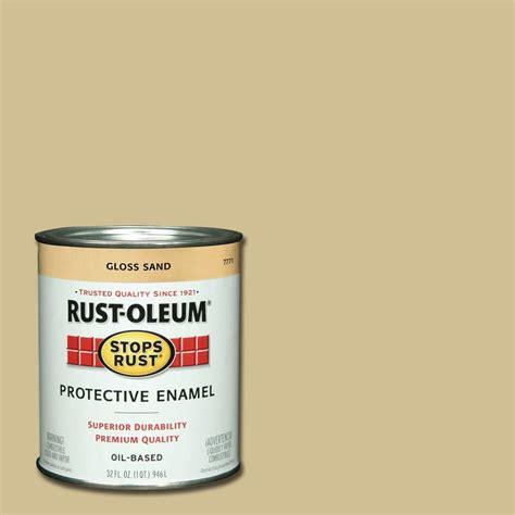 rust oleum stops rust 1 qt protective enamel gloss sand interior exterior paint 2