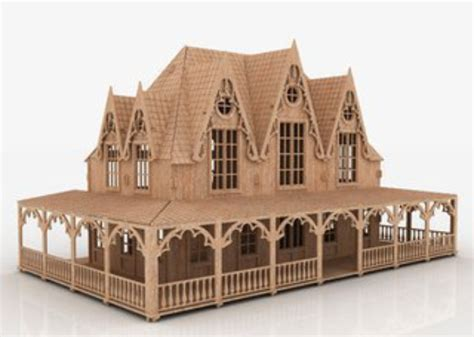 dollhouse plans files  laser cutting cdr dxf eps