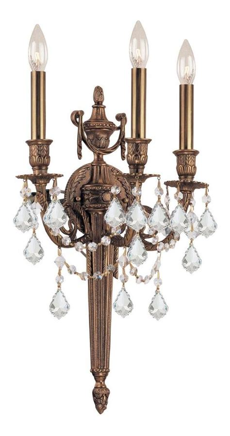 crystorama matte brass hand polished arlington 3 light