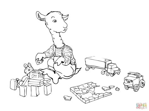 Llama Coloring Pages Printable Religion Class Pinterest