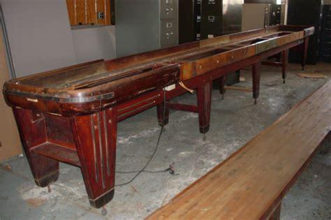 used 22 foot shuffleboard table for sale 1940 s rockola shuffleboard game and scoreboard 4u2fix