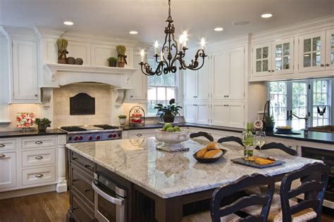 light colored granite kitchen traditional with breakfast
