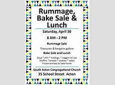 Rummage, Bake Sale & Lunch [043016]