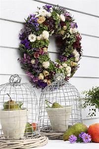 Herbstgestecke Für Draußen : kr nze und gestecke aus trockenblumen gartenzauber ~ Michelbontemps.com Haus und Dekorationen