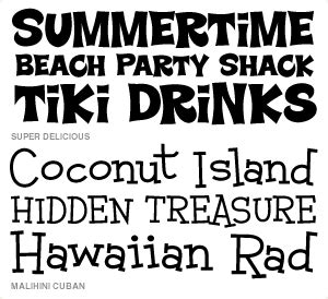 Wishblade  Font Set  Beach Party F7