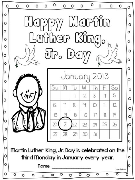 11 Best Images Of Martin Luther King Jr Worksheets Second Grade  Martin Luther King Activities