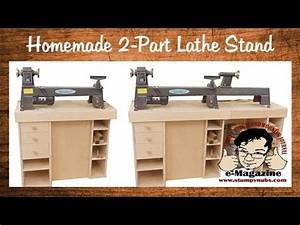 Build a homemade stand for a mini/midi/full size lathe
