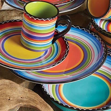 tequila sunrise dinner plates set
