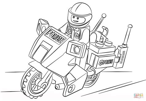 Lego City Coloring Pages Free