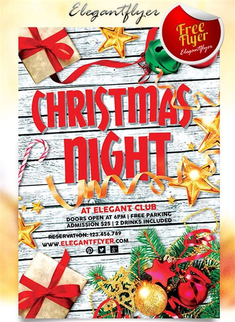 christmas twilight market flyer template free download3 30 free christmas and new year psd flyers for promos