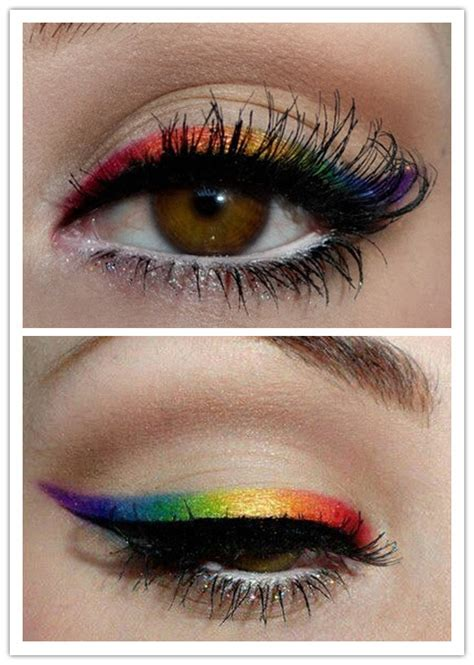 collection  colorful eyeliner makeup ideas  vivacious spring  pretty designs