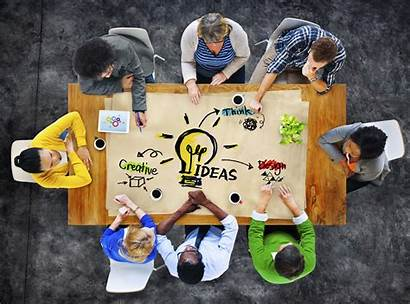 Brainstorming Leadership Creative Session Business Mosaic Let