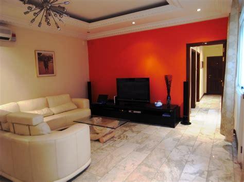 peinture chambre beige deco salon couleur orange