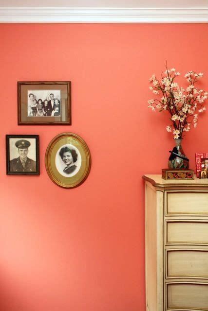 coral color room that paint color