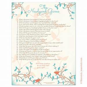 printable christian newlywed game questions With wedding shower newlywed game questions